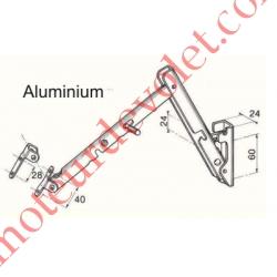 Bras de projection en Aluminium (la paire) Avancée 500mm entre-axes de Fixation 40mm Coloris Gris