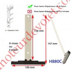 Attache Tablier Noire Longueur 142 mm