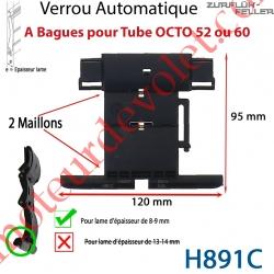 Verrou Automatique à Bagues 2 Maillons pour Tube Octo 52 ou 60 et Lame 8-9 mm d'épaisseur