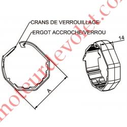 Bague de Verrou Automatique à Bagues Zf pour tube Octo 52 diamètre Extérieur 65 mm Largeur 14 mm