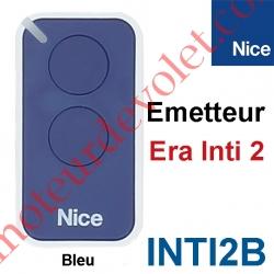 Emetteur Era Inti 2 Fonctions 433,92MHz Rolling Code Coloris Bleu
