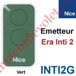 Emetteur Era Inti 2 Fonctions 433,92MHz Rolling Code Coloris Vert