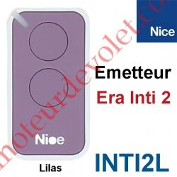 Emetteur Era Inti 2 Fonctions 433,92MHz Rolling Code Coloris Lilas