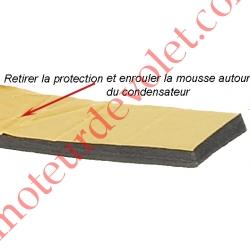 Mousse de Calage du Condensateur Diamètre 25 mm en Polyéthylène Gris Largeur 25 mm Epaisseur 6 mm