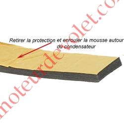 Mousse de Calage du Condensateur Diamètre 30 mm en Polyéthylène Gris Largeur 25 mm Epaisseur 6 mm