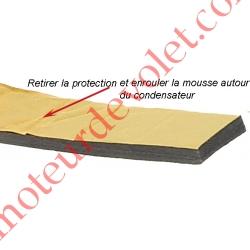 Mousse de Calage du Condensateur Diamètre 35 mm en Polyéthylène Gris Largeur 25 mm Epaisseur 6 mm