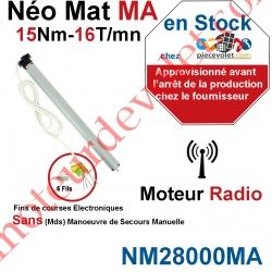 Moteur Nice Radio NéoMat MA 15/16 Av FdC Electro & Radio  sans Mds