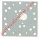 Plaque fixation 100 x 100 mm pour Fixation Moteurs & Treuils