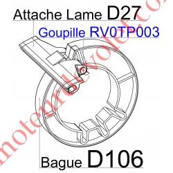 Goupille en Acier Zingué Tête Plate 5x75 Verouille l'Attache D27 sur Bague D106