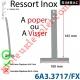 Ressort Inox à Poper sur Tube Laqué Gris pour Lames de 9 mm Longueur 170 mm