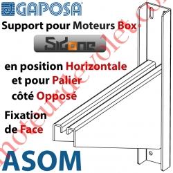 Support pour Moteur Box SidOne en Position Horizontale 4 Tr Pose Face