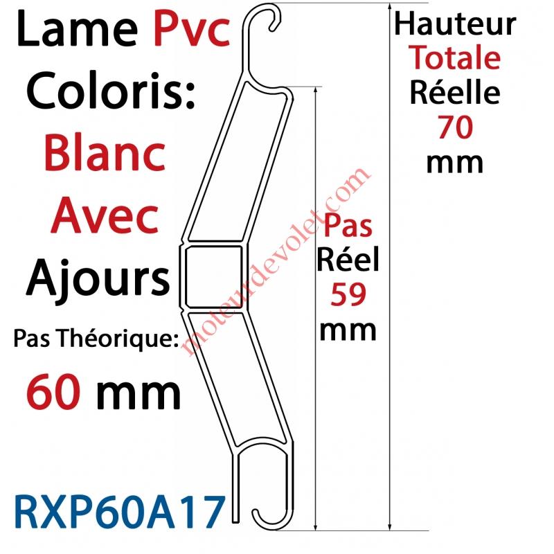 profialis rxp60a17 lame pvc double paroi rxp60 de 60 x 15 coloris blanc avec ajourage le m tre. Black Bedroom Furniture Sets. Home Design Ideas