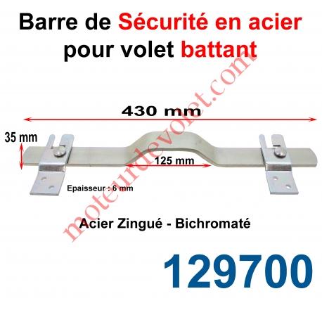 burgaud 129700 barre de s curit en om ga lg 430 mm pour volet battant en acier plat 35x6 mm. Black Bedroom Furniture Sets. Home Design Ideas