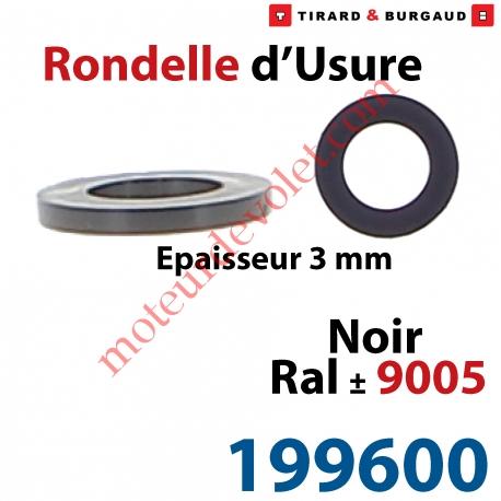 Rondelle Du0027usure Epaisseur 3 Mm En Matériau Composite Noir ± Ral 9005 Pour  Gond