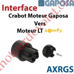 Interface Crabot Moteur Gaposa vers Crabot Moteur Somfy LT permet d'utiliser les Roues de la Gamme Somfy LT