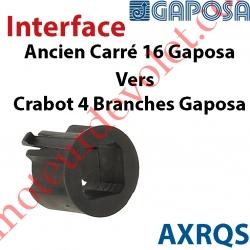 Interface Ancien Carré de 16 Moteur Gaposa vers Crabot 4 Branches Moteur Gaposa
