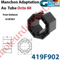 Manchon d'Adaptation au Tube Octo de 60 mm pour Embout Débrayable 419F901