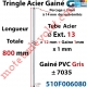 Tringle Acier Gainé Plastique Gris ø 12+1mm x1 mm Percé pr Goup Geig Lg 800 mm