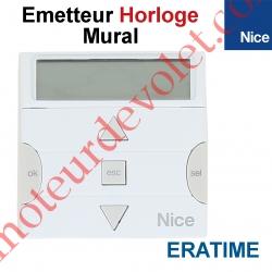 Emetteur Horloge EraTime Mural 3 Fonctions 6 Canaux 433,92MHz Rolling Code