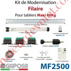 Kit de Motorisation Filaire Largeur Maxi 2500mm Poids Maxi 40 kg