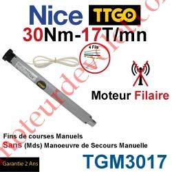 Moteur TT Go Filaire 30/17 Avec FdC Manuels Série M (Medium ø45mm) sans Mds