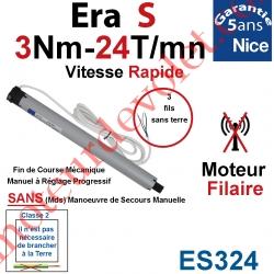 Moteur Nice Filaire Era S 3/24 Avec FdC Manuels Série S (Small ø35mm) sans Mds