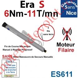 Moteur Nice Filaire Era S 6/11 Avec FdC Manuels Série S (Small ø35mm) sans Mds