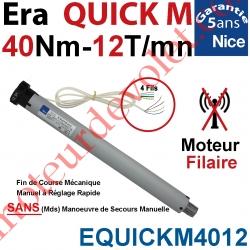 Moteur Nice Filaire Era Quick M 40/12 Avec FdC Manuels Instantanés Série M (Medium ø45mm) sans Mds