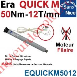 Moteur Nice Filaire Era Quick M 50/12 Avec FdC Manuels Instantanés Série M (Medium ø45mm) sans Mds