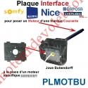 Plaque Interface Moteur Standard pour Joue Moteur id Bubendorff