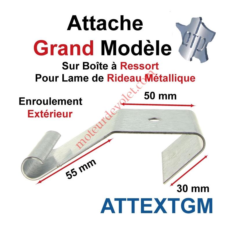ATP ATTEXTGM Attache Grand Modèle Acier Galva sur Boîte Ressort pr ...
