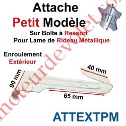 Attache Petit Modèle Acier Galva sur Boîte Ressort pr Lame Rideau Métallique Enrlt Extérieur