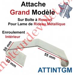 Attache Grand Modèle Acier Galva sur Boîte Ressort pr Lame Rideau Métallique Enrlt Intérieur