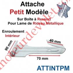 Attache Petit Modèle Acier Galva sur Boîte Ressort pr Lame Rideau Métallique Enrlt Intérieur