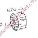 Embout Zf 64 à Crabot Zf Femelle Percé ø 16 mm Femelle pour Compensateur