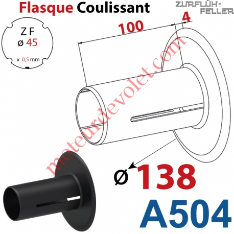 Flasque Coulissant ø 138 mm pour Tube Zf 45