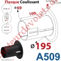 Flasque Coulissant ø 195 mm pour Tubes Zf 64 & Octo 60