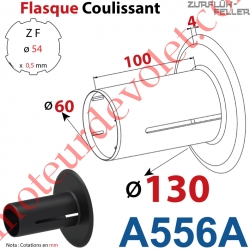 Flasque Coulissant ø 130 mm pour Tube Zf 54