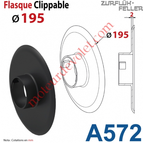 Flasque Clippable ø 195 mm