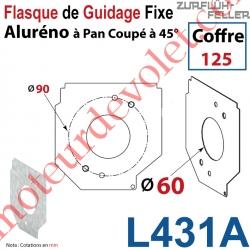 Flasque Fixe Percé ø 60 mm pr Passage Tube pr Aluréno Pan Coupé à 45° de 125