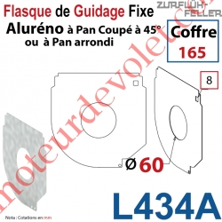 Flasque Fixe Percé ø 60 mm pr Passage Tube pr Aluréno Pan Coupé à 45° de 165
