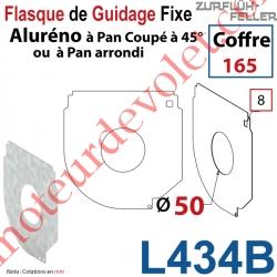 Flasque Fixe Percé ø 50 mm pr Passage Tube pr Aluréno Pan Coupé à 45° de 165