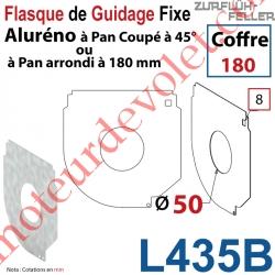 Flasque Fixe Percé ø 50 mm pr Passage Tube pr Aluréno Pan Coupé à 45° & Arrondi de 180