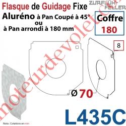 Flasque Fixe Percé ø 70 mm pr Passage Tube pr Aluréno Pan Coupé à 45° & Arrondi de 180