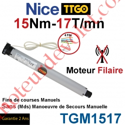 Moteur TT Go Filaire 15/17 Avec FdC Manuels Série M (Medium ø45mm) sans Mds