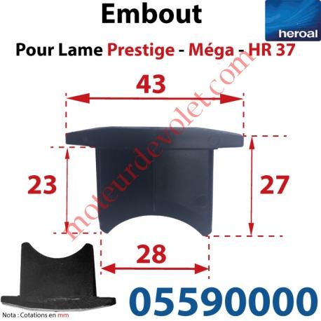 Embout de lames Méga & Hr37 à Enfoncer Sans Fraiser