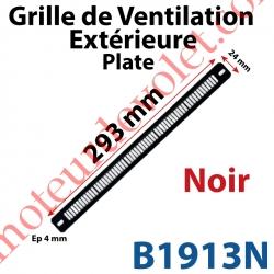 Grille de Ventilation Extérieure 30 m³/h Plate Nicoll 293 x 24 x 4 Coloris Noir