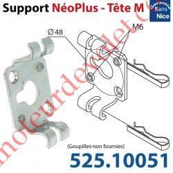 Support Nice Néoplus Tête M Métallique entr'axes M6 & Fraisés 48 mm