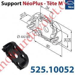 Support Nice Néoplus Tête M Clipée Plast entr'axes Têtes Hexa 44 & 48mm Couple Maxi 30Nm