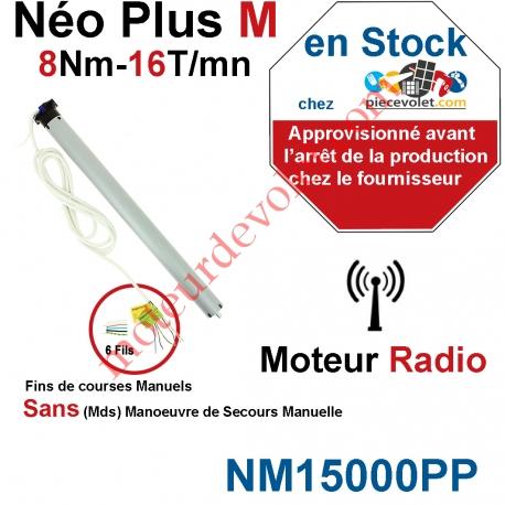 Moteur Nice Radio NéoPlus M 8/16 Radio  sans Mds